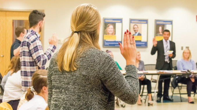 New SGA senators get sworn in at weekly meeting.